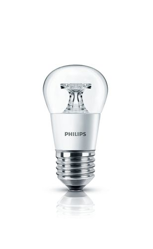 Philips LED CorePro Tropfen 5,5 W E27 klar warmweiss